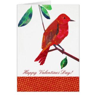 Valentinsgruß-Rot-Vogel Karte