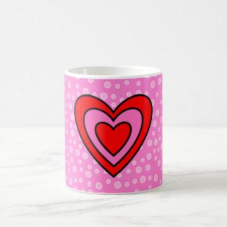 Valentinsgruß-rotes und rosa Herz Kaffeetasse