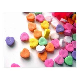 Valentinsgruß-Schatz-Süßigkeit Postkarte