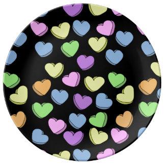 Valentinsgruß-Schatze Teller