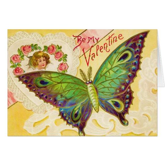 Valentinsgruß-Schmetterlings-Karte Karte