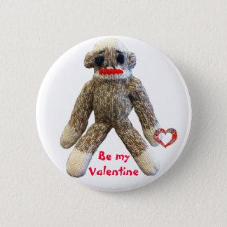 Valentinsgruß-Socken-Affe Runder Button 5,7 Cm