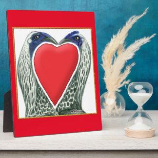 Valentinsgruß-Spiel-Hühner Fotoplatte