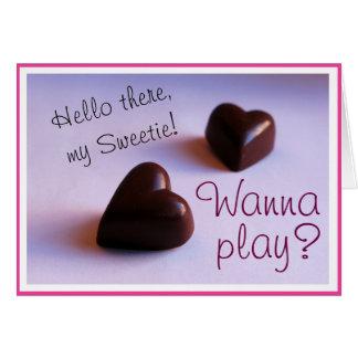 Valentinsgruß-spielen romantische karte