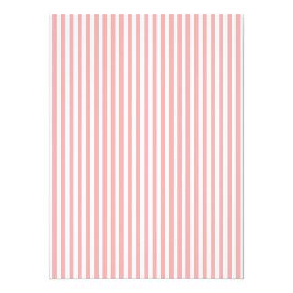 Valentinsgruß-Streifen erröten herein Rosa und 14 X 19,5 Cm Einladungskarte