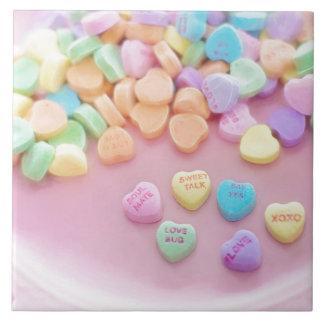 Valentinsgruß-Süßigkeit Große Quadratische Fliese