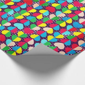 Valentinsgruß-Süßigkeits-Strudel-Herzen Geschenkpapier
