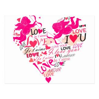 Valentinsgrüße Postkarte