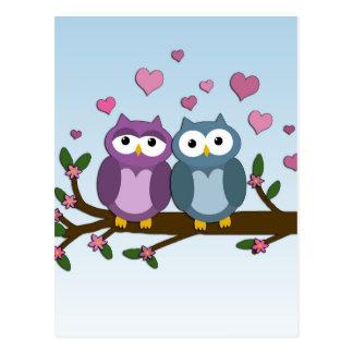 Valentinsgrußeulen Postkarte