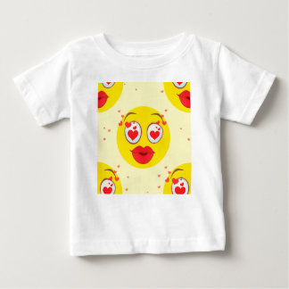 Valentinsgrußkuß Emoji Baby T-shirt