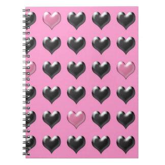Valentinsgrußmusternotizbuch Notizbücher