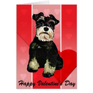 Valentinsgrußschnauzer-Hundekarte Karte