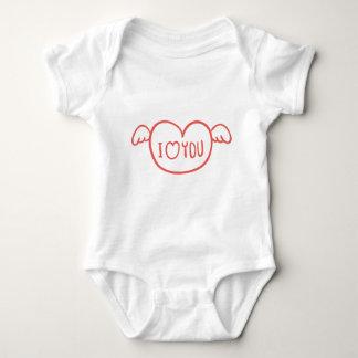 Valentinstag Baby Strampler
