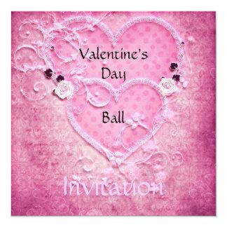 Valentinstag-Ball-Einladung Karte
