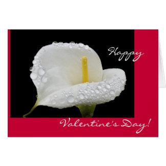 Valentinstag - Callalilien- und -tautropfen Karte