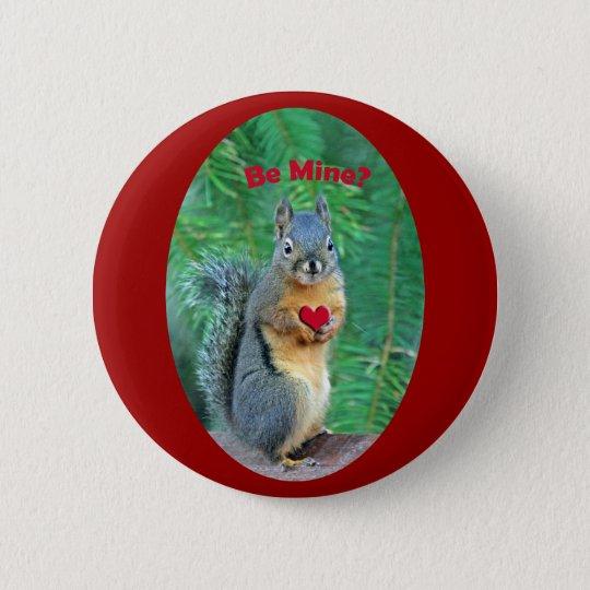 Valentinstag-Eichhörnchen Runder Button 5,7 Cm