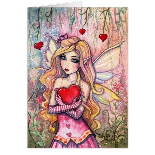 Valentinstag-feenhafte Karte durch Molly Harrison