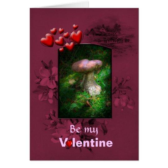 Valentinstag, feenhafter Waldpilz Karte