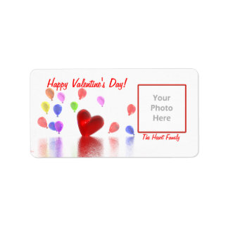 Valentinstag-Feier (Fotorahmen) Adressaufkleber