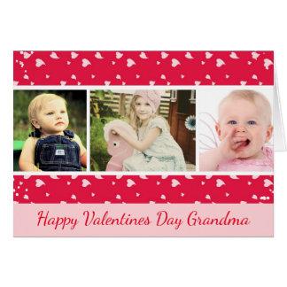 Valentinstag-Foto-Karte für Großmutter Karte