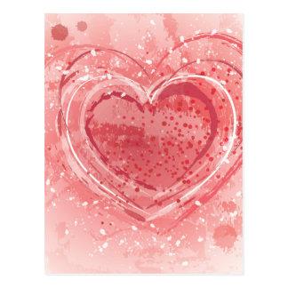 Valentinstag-Illustration Postkarte