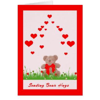 Valentinstag-Karte mit Bären und Herzen Karte