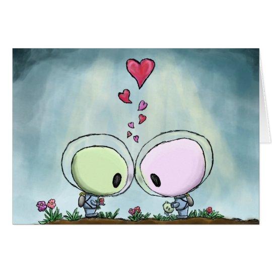 Valentinstag-Kuss Grußkarte