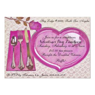 Valentinstag-Mittagessen-Einladung Karte