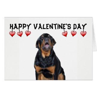 Valentinstag mürrische Rottweiler Karte Karte