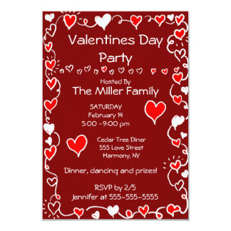 Valentinstag-Party Karte