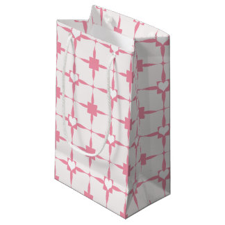 Valentinstag-rosa und weißes Herz-Muster Kleine Geschenktüte