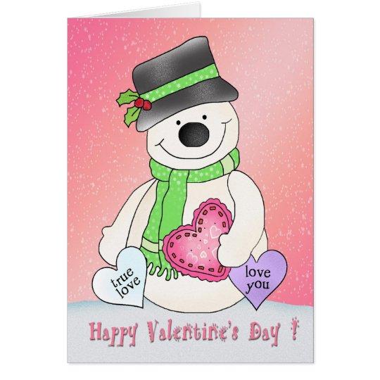 Valentinstag-Schneemann-Gruß-Karte Grußkarte