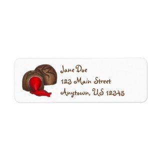 Valentinstag-Schokoladen-Kirschlikör-Aufkleber