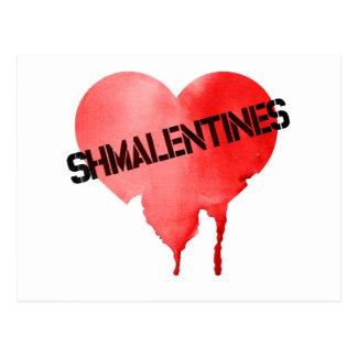 Valentinstag Shmalentines Tag Postkarte