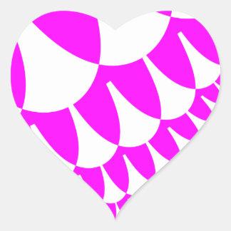 Valentinstag stuft Herz-Aufkleber ein