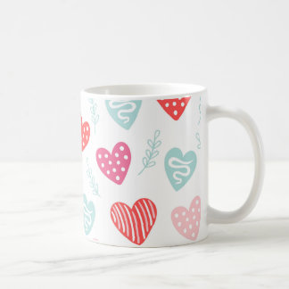 Valentinstag-Süßigkeits-Herz-rotes rosa Muster Tasse