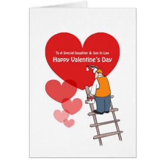 Valentinstag-Tochter-u. Schwiegersohn-Karten Karte