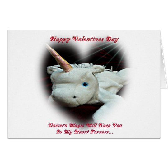Valentinstag Unicorn-Grußkarte Grußkarte