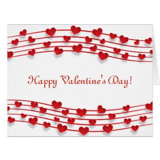 Valentinstag viele Herz-ursprünglicher Entwurf Karte