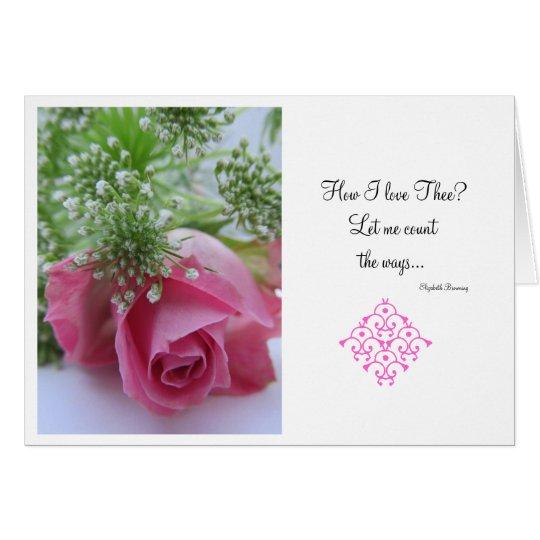 Valentinstag: Wie tun i-Liebe thee? Grußkarte