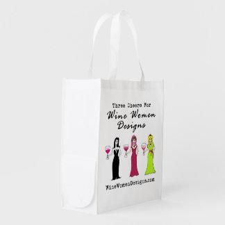 Valeur promotionnelle de conceptions de femmes de  sac d'épicerie