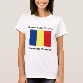Vampir berichtigt Bewegung - rumänischen T-Shirt