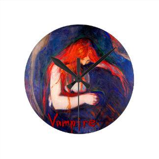 Vampir Edvard Munch Runde Wanduhr