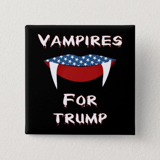 Vampire für Trumpf-Spaß-Halloween-Knopf Quadratischer Button 5,1 Cm