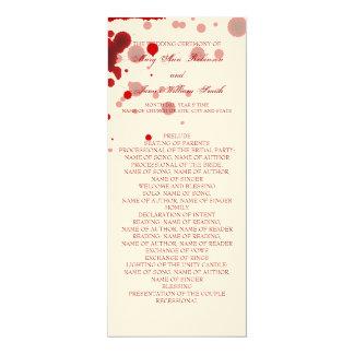 Vampire-Halloween-Hochzeits-Programm-Fake blutrot 10,2 X 23,5 Cm Einladungskarte