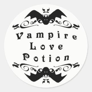 Vampire-Liebe-Trank Halloween Runder Aufkleber