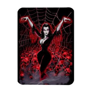 Vampirs-Frauen-Spinnennetz gotisch Magnet