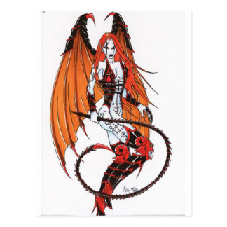 Vampirsrouge Postkarte