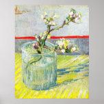 Van Gogh ; Branche se développante d'amande dans u Posters