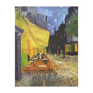 Van Gogh; Café-Terrasse nachts, Vintage feine Gespannte Galerie Drucke
